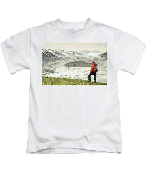 Hikers On Goatheard Mountain Kids T-Shirt