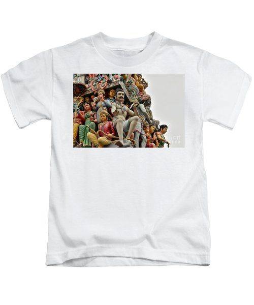 Hindu Gods And Goddesses At Temple Kids T-Shirt