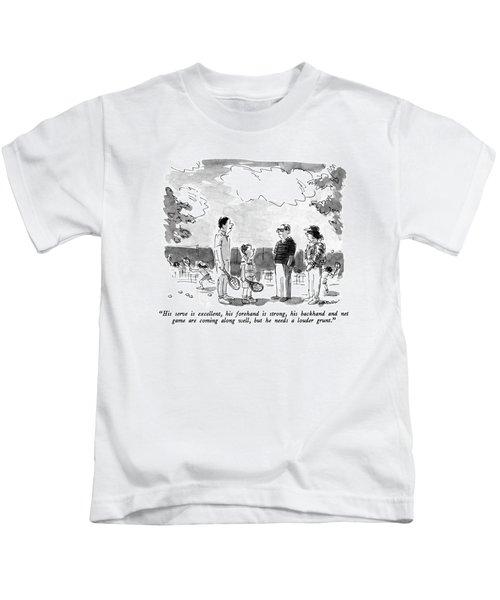 His Serve Is Excellent Kids T-Shirt
