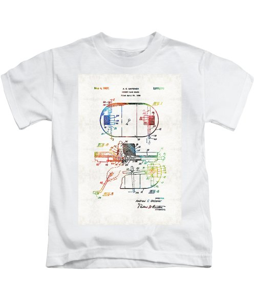 Hockey Art - Game Board - Sharon Cummings Kids T-Shirt