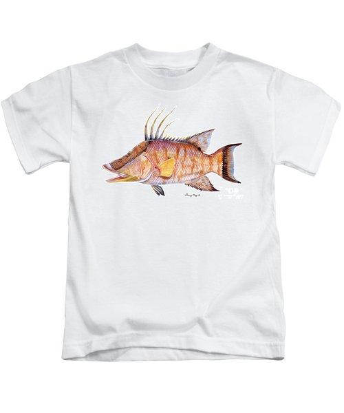 Hog Fish Kids T-Shirt by Carey Chen
