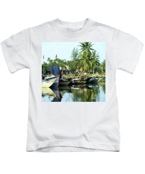 Hoi An Fishing Boats 01 Kids T-Shirt