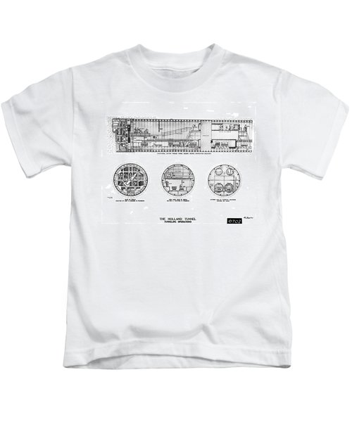 Holland Tunnel Construction Kids T-Shirt