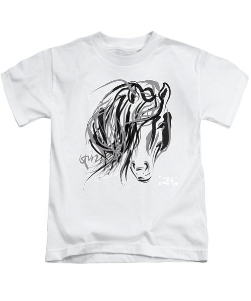 Horse- Hair And Horse Kids T-Shirt