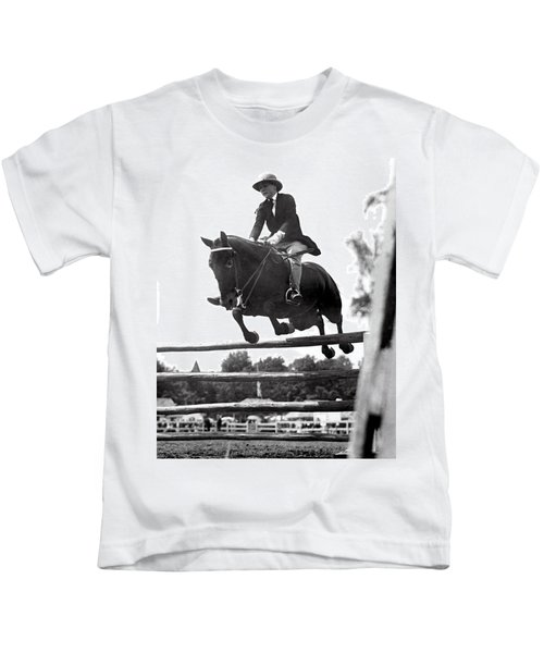 Horse Show Jump Kids T-Shirt
