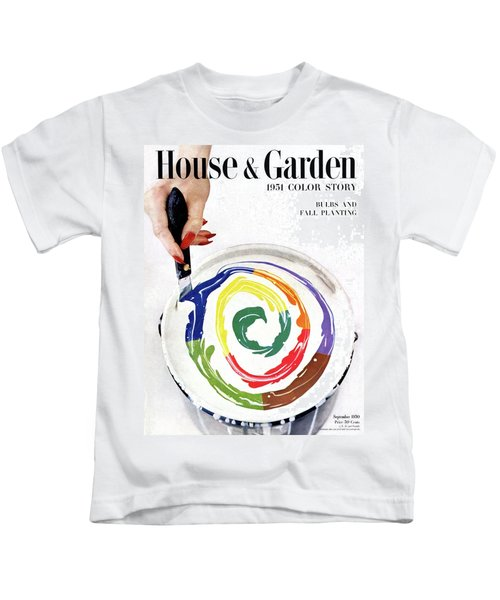 House & Garden Cover Of A Woman's Hand Stirring Kids T-Shirt