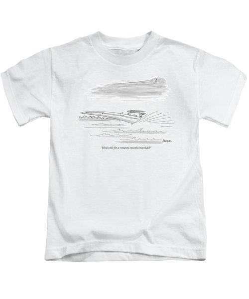 How's This For A Romantic Moonlit Interlude? Kids T-Shirt