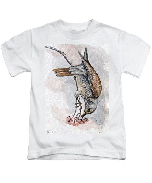 hungry Thrush 1 Kids T-Shirt
