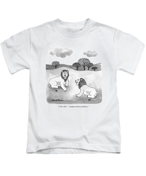 I Like That - 'compassionate Predators.' Kids T-Shirt