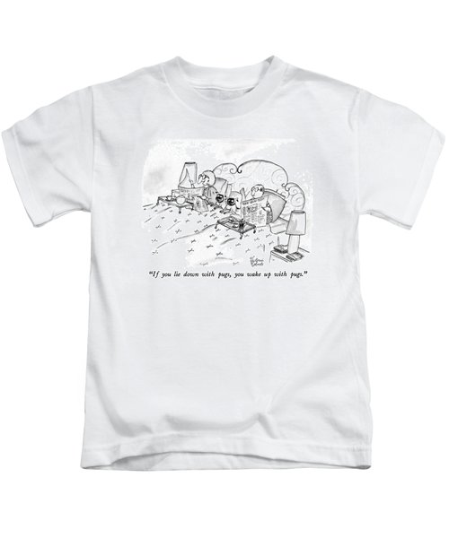 If You Lie Down With Pugs Kids T-Shirt