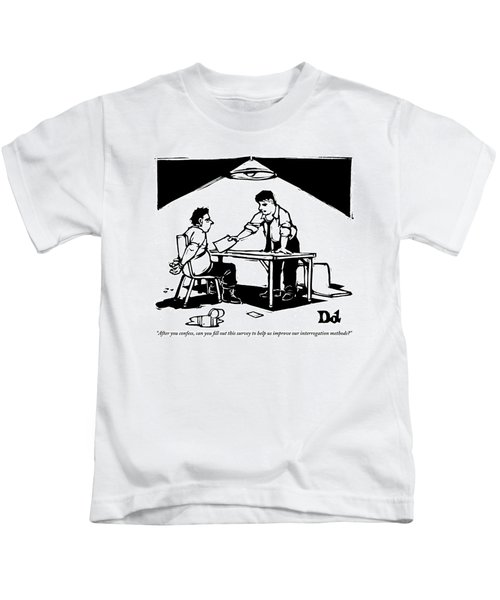 In A Stereotypical Interrogation Room Kids T-Shirt