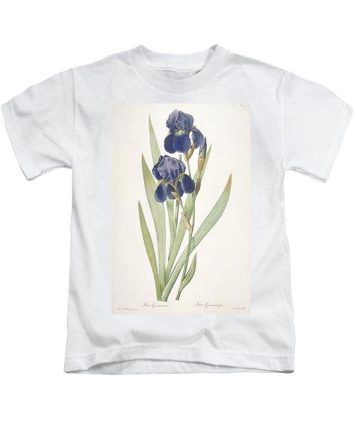 Iris Germanica Bearded Iris Kids T-Shirt
