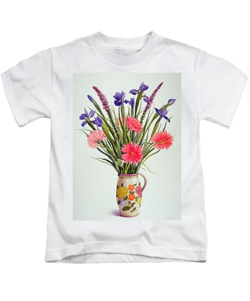 Irises And Berbera In A Dutch Jug Kids T-Shirt