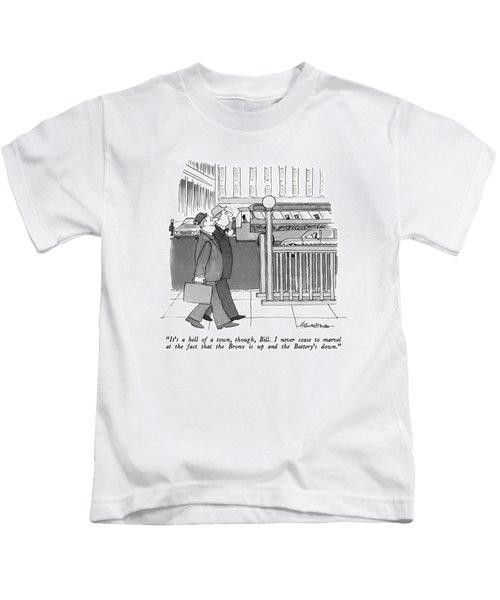 It's A Hell Of A Town Kids T-Shirt