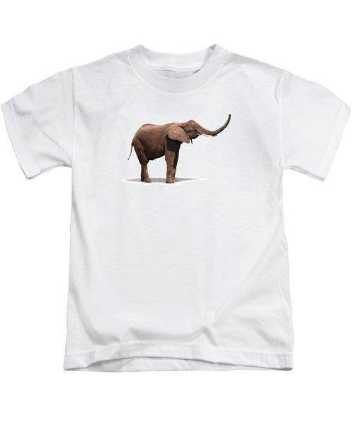 Joyful Elephant Isolated On White Kids T-Shirt