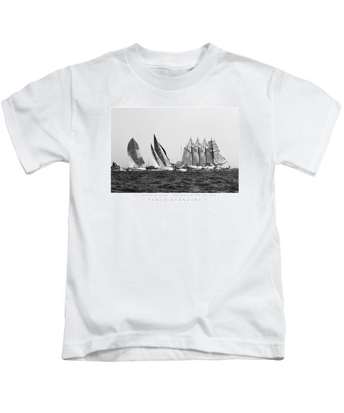 Juan Sebastian Elcano Departing The Port Of Cadiz Kids T-Shirt