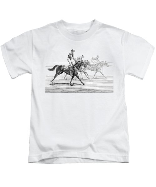 Just Finished - Horse Racing Print Kids T-Shirt