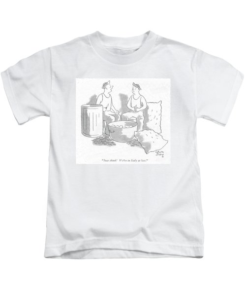 Just Think! We're In Italy At Last Kids T-Shirt