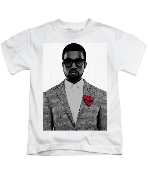 Kanye West  Kids T-Shirt by Dan Sproul
