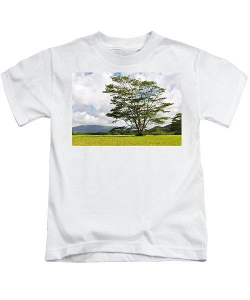 Kauai Umbrella Tree Kids T-Shirt