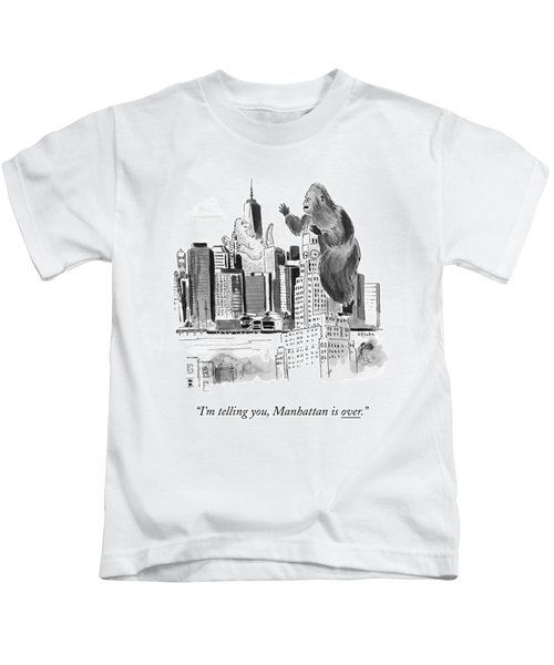 King Kong, Atop The Williamsburgh Savings Bank Kids T-Shirt