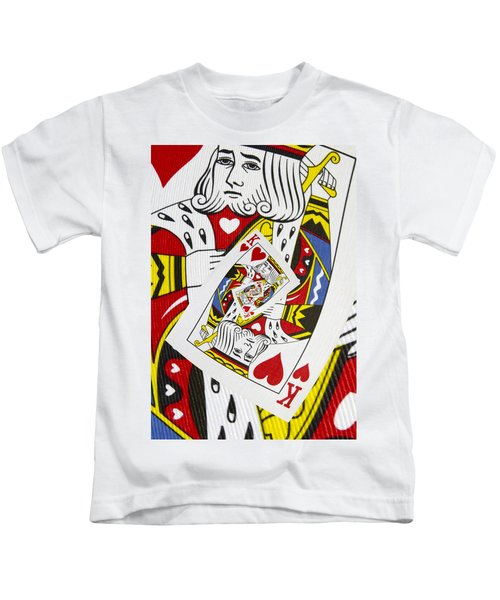 King Of Hearts Collage Kids T-Shirt