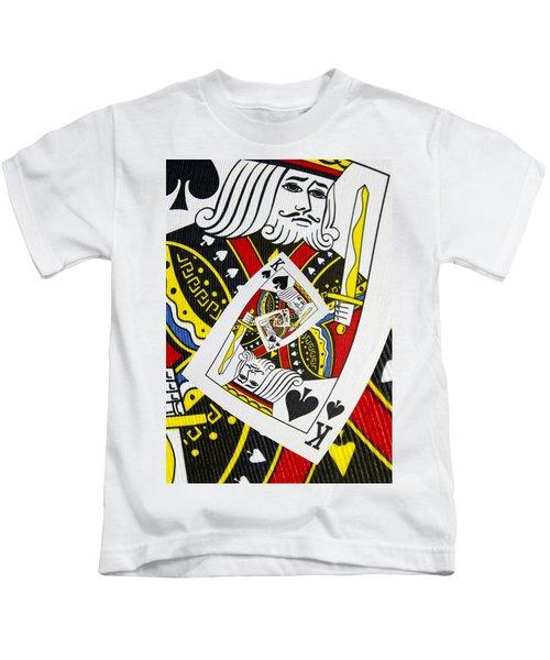 King Of Spades Collage Kids T-Shirt