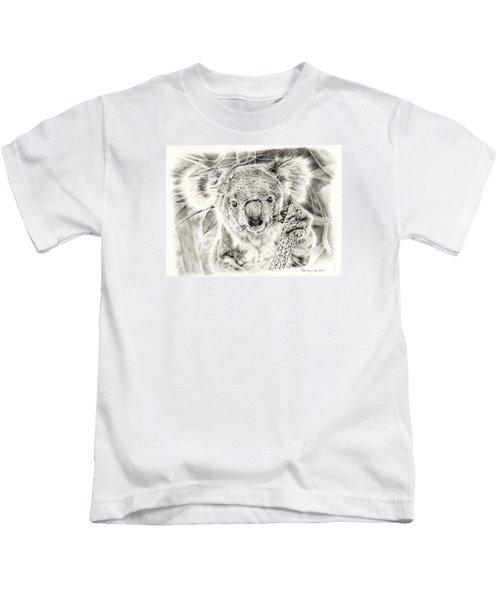 Koala Garage Girl Kids T-Shirt by Remrov