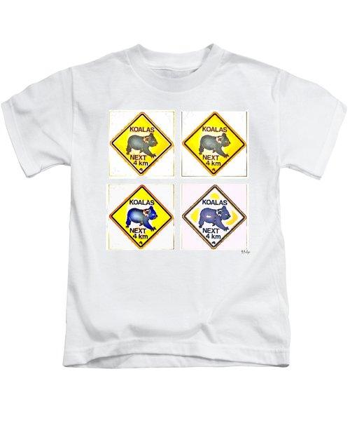 Koalas Road Sign Pop Art Kids T-Shirt
