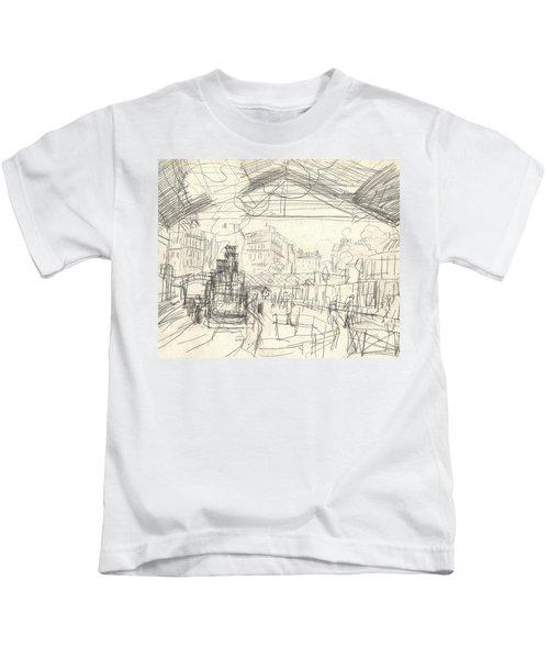 La Gare Saint Lazare Kids T-Shirt