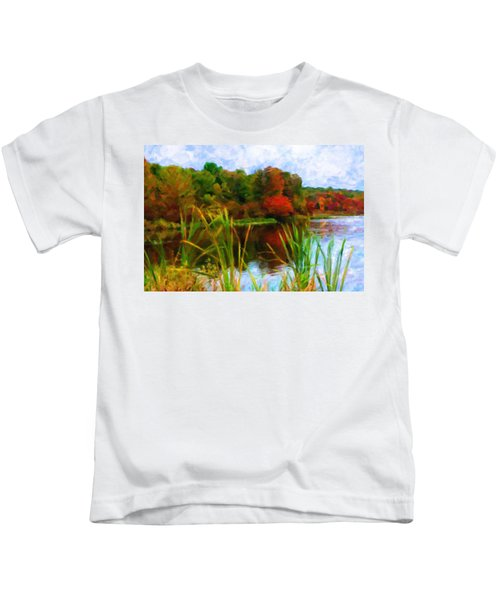 Lake In Early Fall Kids T-Shirt