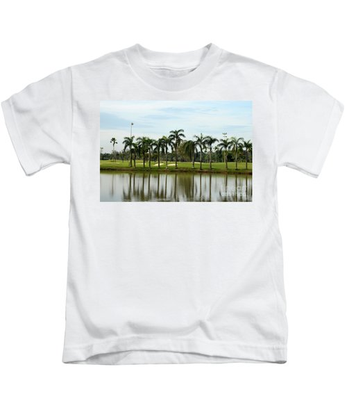 Lake Sand Traps Palm Trees And Golf Course Singapore Kids T-Shirt