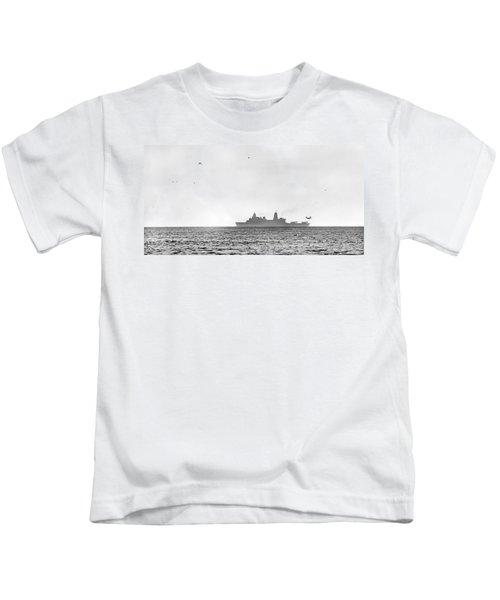 Landing On The Horizon Kids T-Shirt