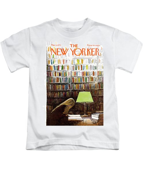 Late Night At The Library Kids T-Shirt