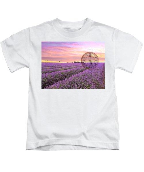 Lavender Time Kids T-Shirt