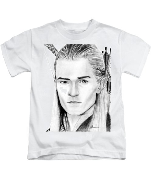 Legolas Greenleaf Kids T-Shirt by Kayleigh Semeniuk