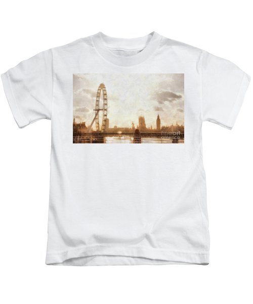 London Skyline At Dusk 01 Kids T-Shirt