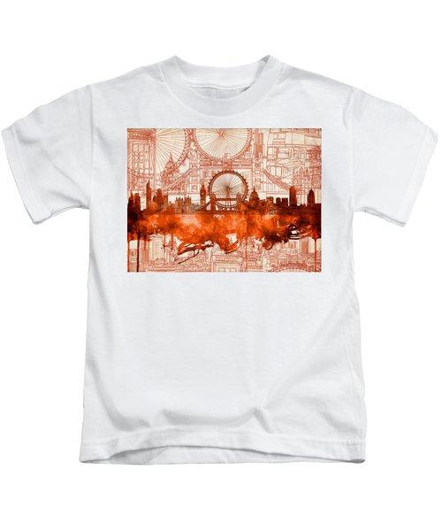 London Skyline Old Vintage 2 Kids T-Shirt