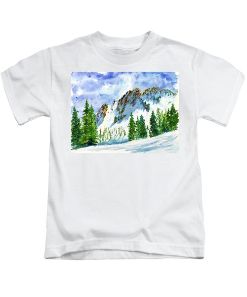 Lone Tree In The Afternoon Kids T-Shirt