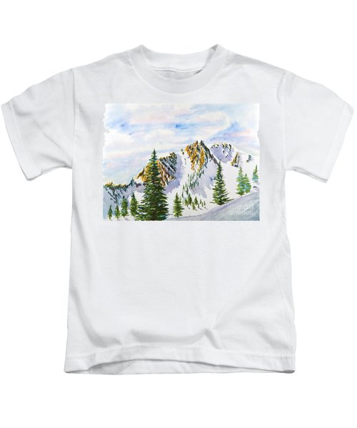 Lone Tree In The Morning Kids T-Shirt