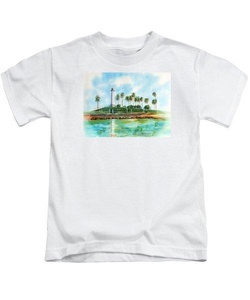 Long Beach Lighthouse  Version 2 Kids T-Shirt