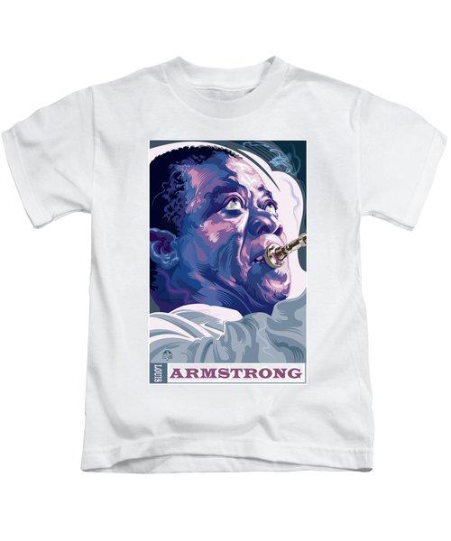 836f559c9a4 Louis Armstrong Portrait Kids T-Shirt