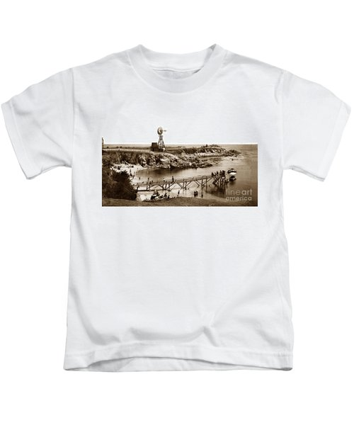 Lovers Point Beach And Old Wooden Pier Pacific Grove August 18 1900 Kids T-Shirt