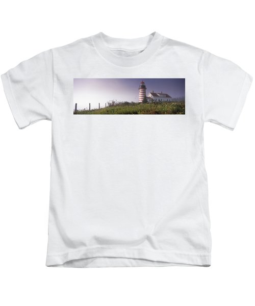 Low Angle View Of A Lighthouse, West Kids T-Shirt