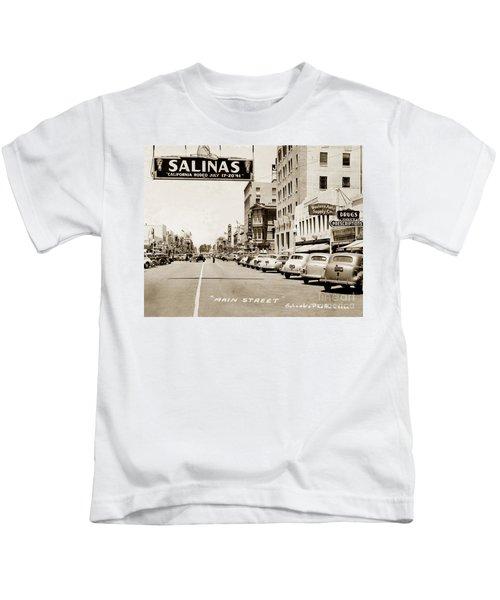 Main Street Salinas California 1941 Kids T-Shirt