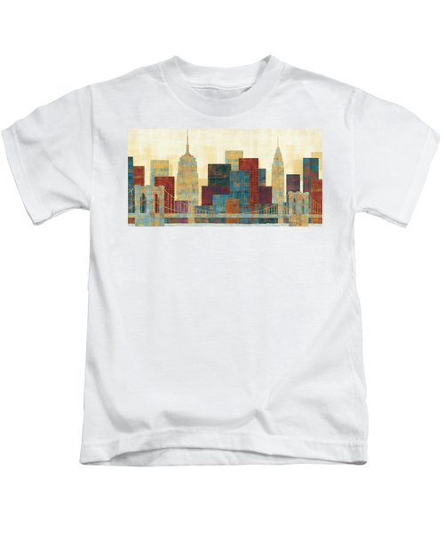 Majestic City Kids T-Shirt by Michael Mullan