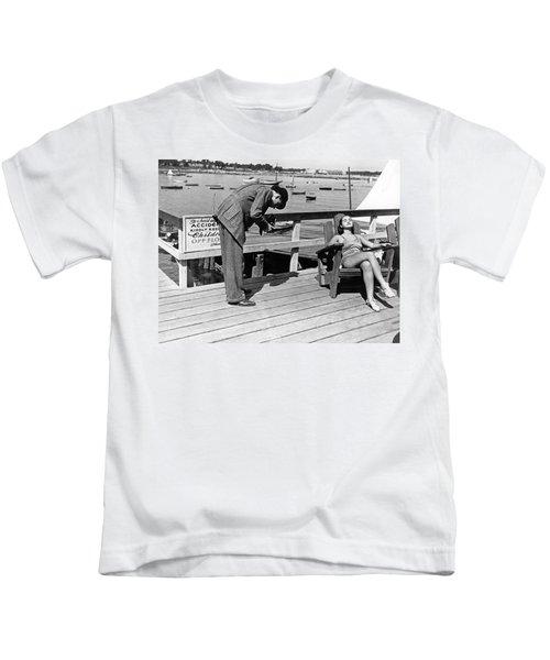 Man Photographs Sleeping Girl Kids T-Shirt
