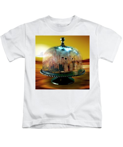 Manhattan Under The Dome Kids T-Shirt