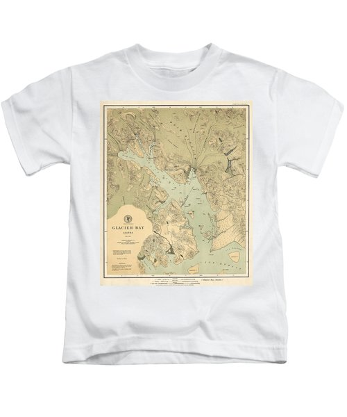 Map Of Glacier Bay 1899 Kids T-Shirt