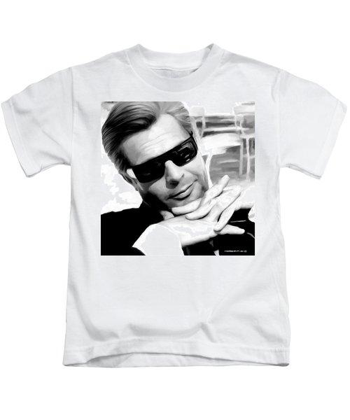 Marcello Mastroianni Portrait Kids T-Shirt